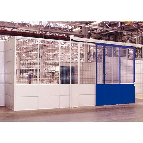 Cerramiento de tabique simple en chapa de acero - Panel de rejilla - Altura 2,51 m