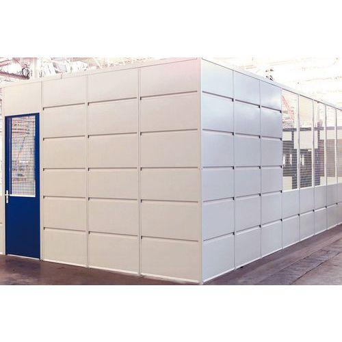 Cerramiento de tabique simple en chapa de acero - Panel macizo - Altura 2,51 m