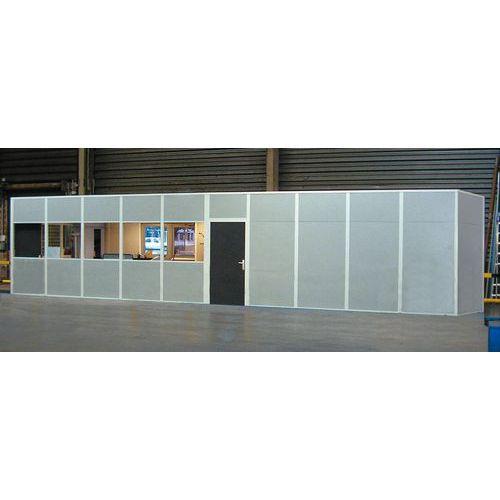 Cerramiento de tabique doble de chapa de acero melaminado - Panel macizo - Altura 2,50 m