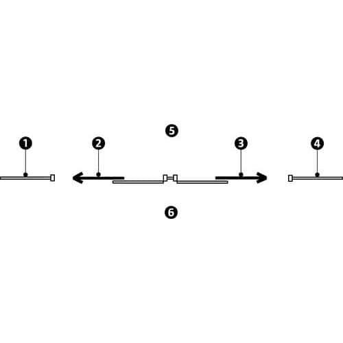 Puerta corredera para cerramientos de taller de melamina - Panel semiacristalado - Altura 3,01 m