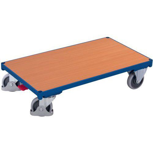 Plataforma rodante ergonómica de madera - Capacidad 400 y 500 kg