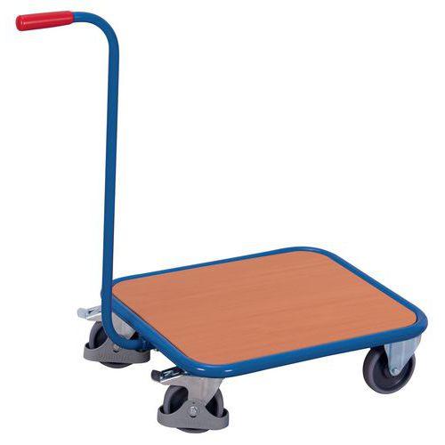 Carro de cuello de cisne, plataforma de madera - Capacidad 250 kg