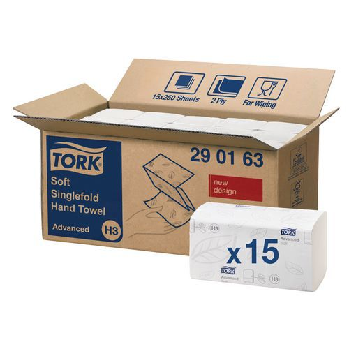 Toallitas de papel Tork Advanced H3 - Plegadas en Z