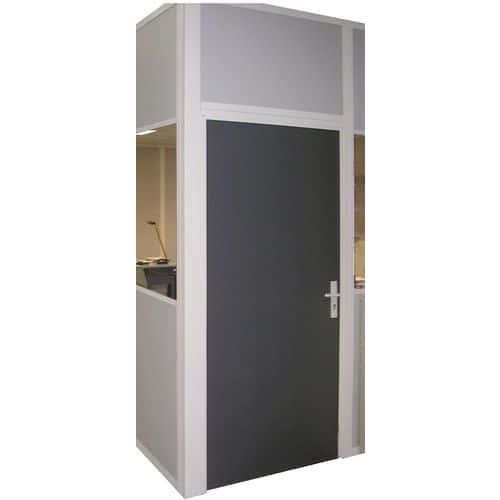 Puerta corredera para cerramientos de taller de chapa de acero o con melamina- Panel macizo - Altura 3 m