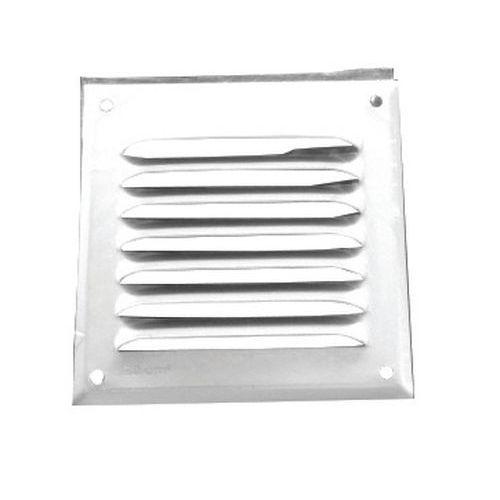 Rejilla alum. persiana de ventilación por 4 (100x100mm)