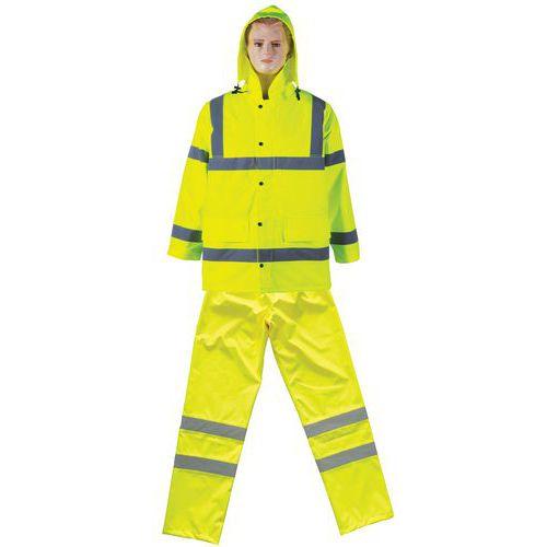 Conjunto impermeable de alta visibilidad amarillo Manutan