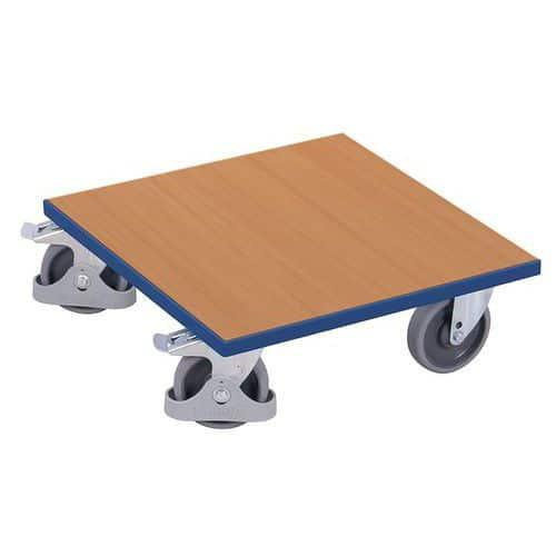 Plataforma rodante de madera - Capacidad 400 kg