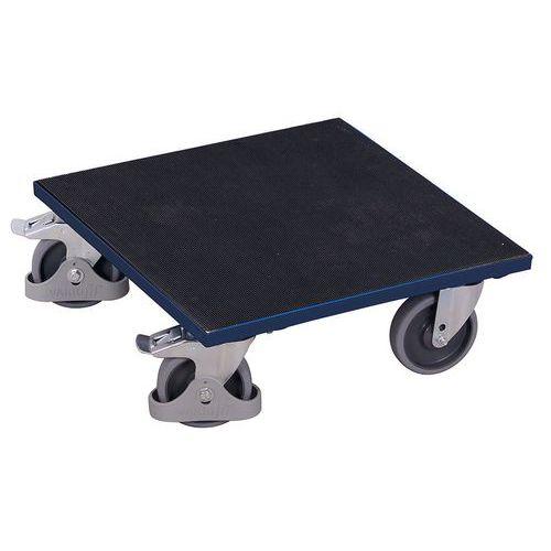 Plataforma rodante de madera - Acabado caucho - Cap. 400 kg