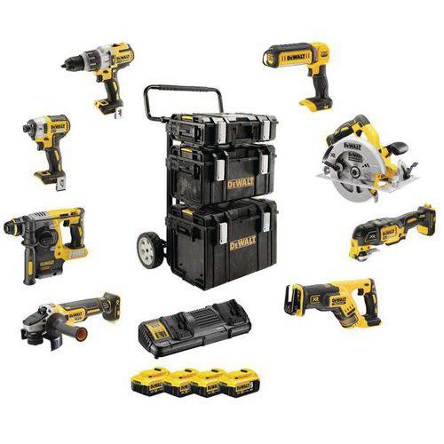 Kit Premium de 8 herramientas gama XR - 18 V 5 AH iones de litio