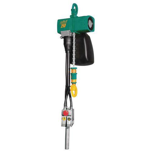 Polipasto neumático - Capacidad 125 a 980 kg - Altura de izado 3 a 8 m