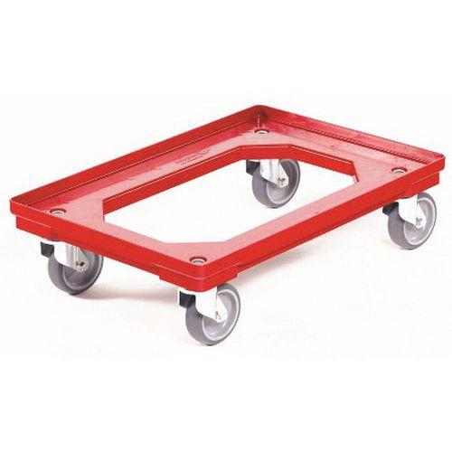 Plataforma rodante de PEAD para recipientes norma Europa - Capacidad 300 kg