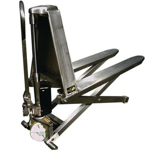 Transpaleta manual de acero inoxidable de alta elevación - Capacidad 1000 kg