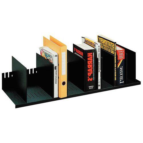 Clasificador vertical con separadores desmontables para armarios - Negro - Paperflow