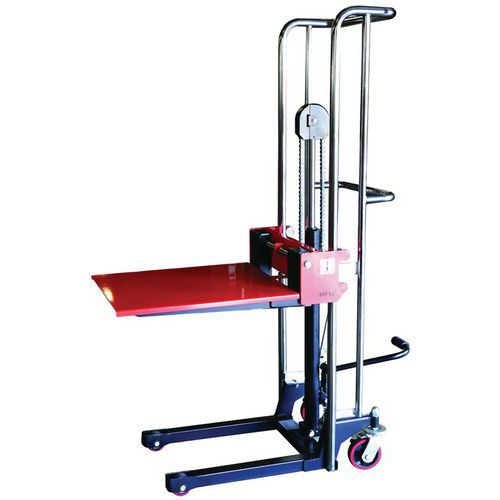 Apilador manual - Longitud horquilla 650 mm - Cap. 400 kg