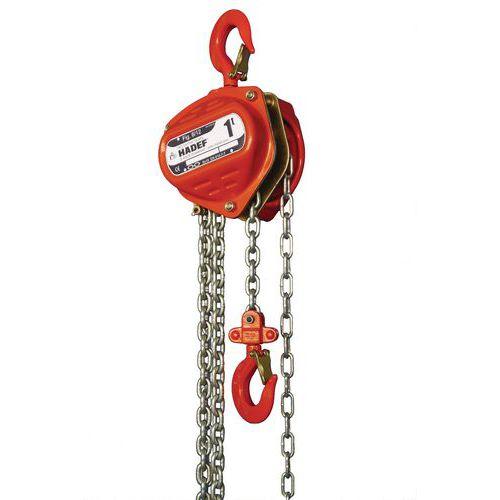 Polipasto manual 8/12 - Cap. 500 a 1600 kg - Elevación 3 m