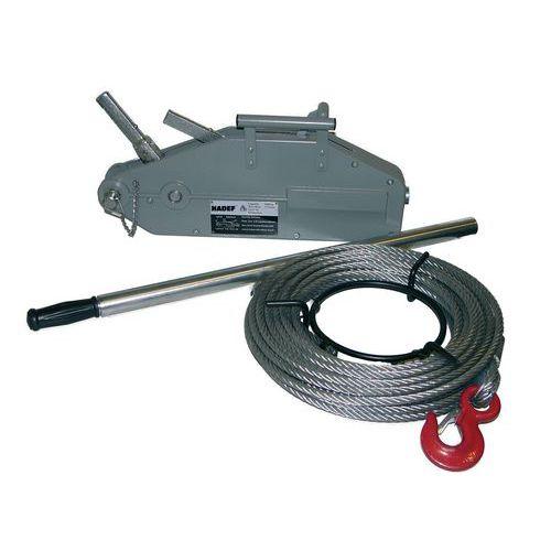 Cabrestante de cable pasante