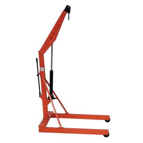 Grúa de taller con estructura - Capacidad 500 kg y 1000 kg