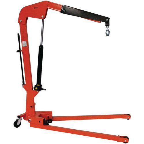 Grúa de taller plegable con brazo regulable en 3 posiciones - Capacidad 500 Kg y 1000 Kg
