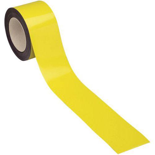 Cinta magnética borrable para marcado 10 m - Amarilla - Manutan