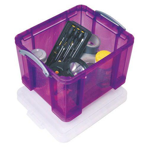 Caja organizadora - Longitud 480 mm - Modelo translúcido