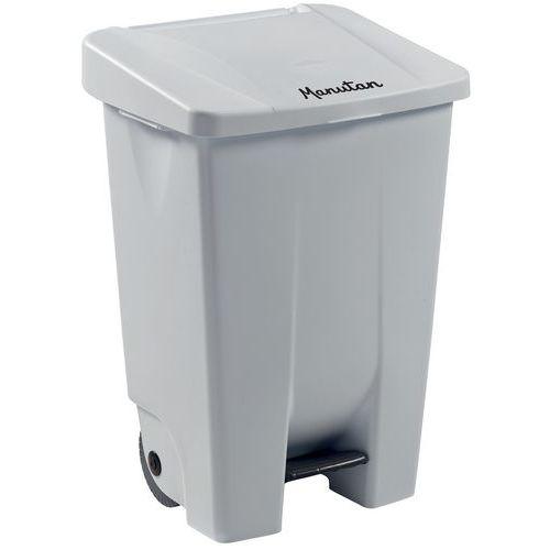 Cubo de basura móvil con pedal - Ergonómico - Recogida selectiva - 80 L - Manutan