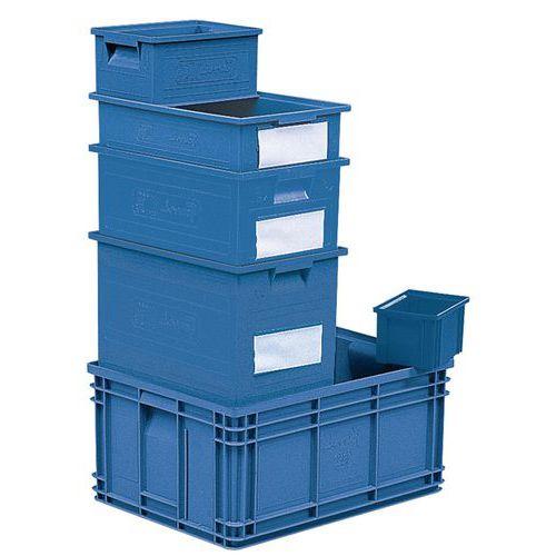 Caja apilable de dimensiones específicas - Azul