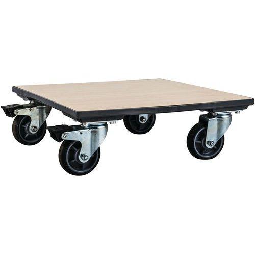 Plataforma rodante de madera - Capacidad 500 kg - Manutan