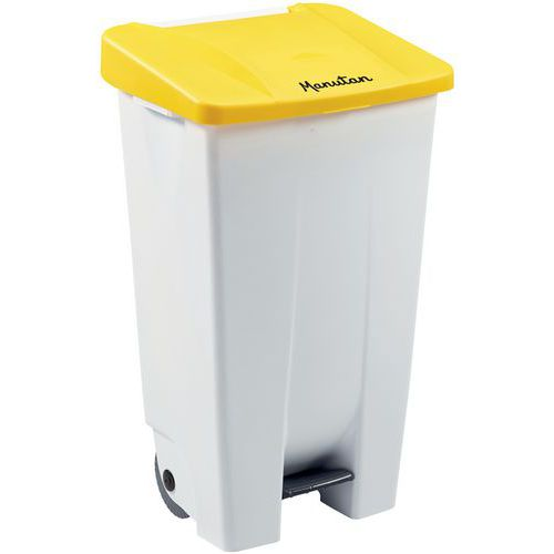 Cubo de basura móvil con pedal - Ergonómico - Recogida selectiva - 120 L - Manutan