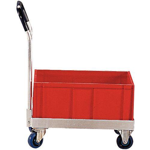 Plataforma rodante aluminio - Para recipientes norma Europa - Capacidad 500 kg