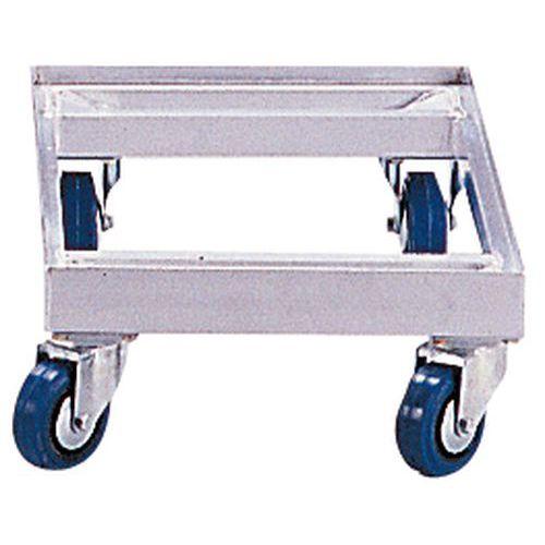 Plataforma rodante aluminio - Para recipientes norma Europa - Capacidad 350 kg