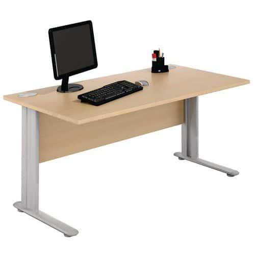 Mesa de oficina rectangular - Haya - Manutan