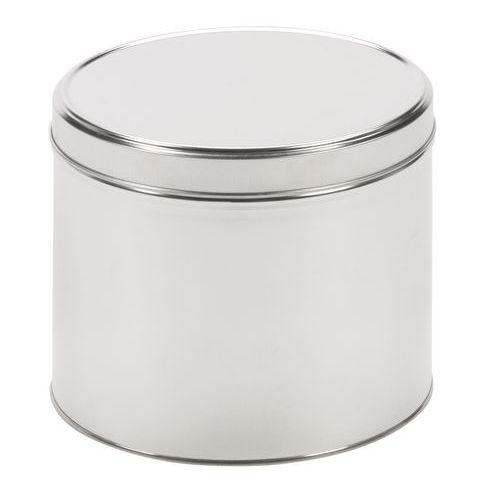 Caja metálica redonda con tapa ajustable
