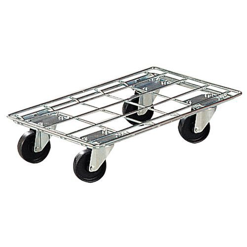 Plataforma rodante hilo de acero - Para recipientes norma Europa - Capacidad 400 kg