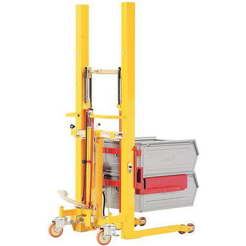 Apilador elevador de anchura ajustable - Carga 300 kg