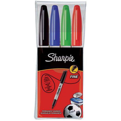 Marcador permanente fino Sharpie - Surtidos - Estuche de 4