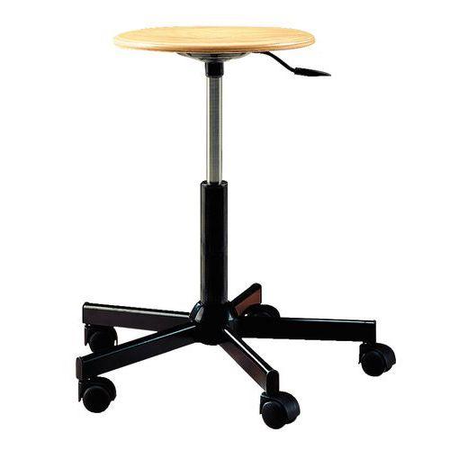 taburete de taller bajo tecnik - con ruedas - manutan.es
