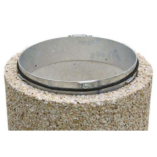 Círculo portabolsas para papelera exterior de hormigón - 80