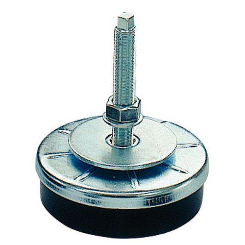 Soporte antivibratorio de ajuste preciso para cargas medianas o pesadas - Varilla de acero inoxidable - Rosca