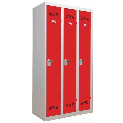 Taquilla monobloque de industria limpia - 3 columnas - Ancho 300 mm