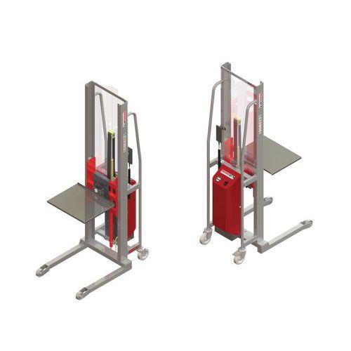 Apiladora GR semieléctrica con plataforma inox - Capacidad 300 kg