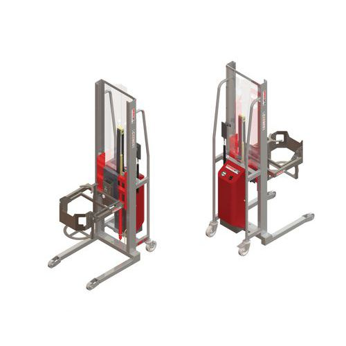 Apiladora GR semieléctrica con volteador de bidones - Capacidad 300 kg