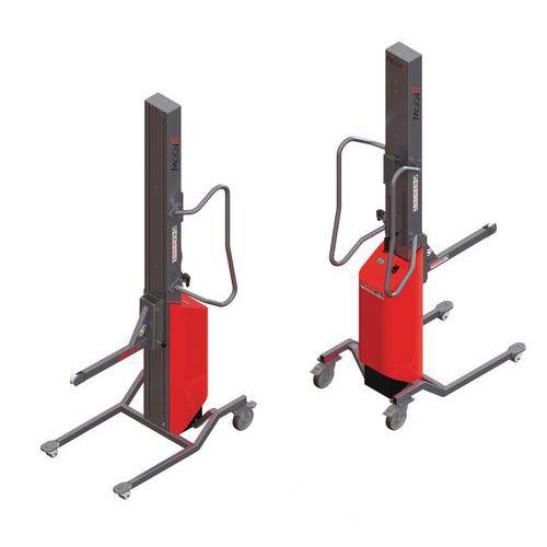 Apiladora Moovit con soporte con rodillo - Capacidad 80 kg