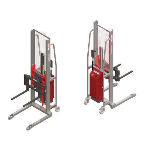Apiladora GR semieléctrica con horquillas móviles - Capacidad 300 kg