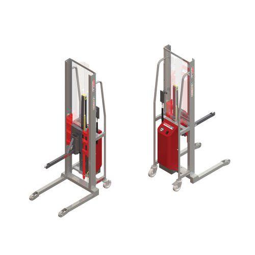 Apiladora GR semieléctrica con soporte con rodillo - Capacidad 200 kg
