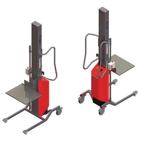 Apiladora Moovit con plataforma de nivel constante inox - Capacidad 80 kg