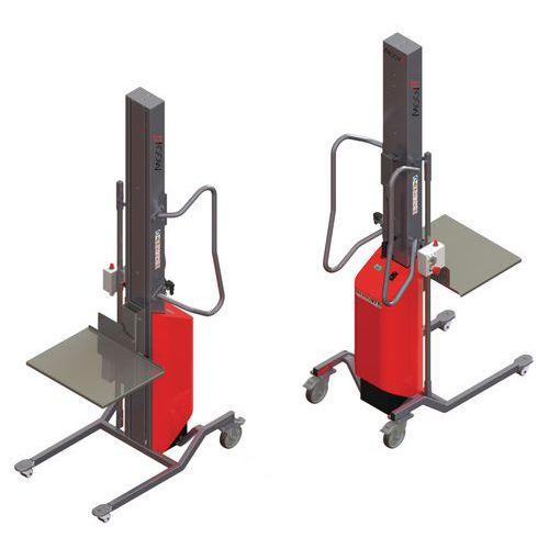 Apiladora Moovit con plataforma inox de nivel constante - Capacidad 150 kg