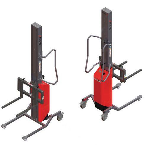 Apiladora Moovit con horquillas móviles - Capacidad 80 kg