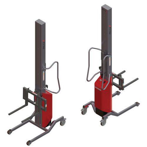 Apiladora Moovit con horquillas móviles - Capacidad 150 kg