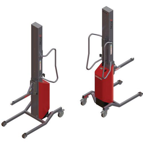 Apiladora Moovit con soporte con rodillo - Capacidad 200 kg