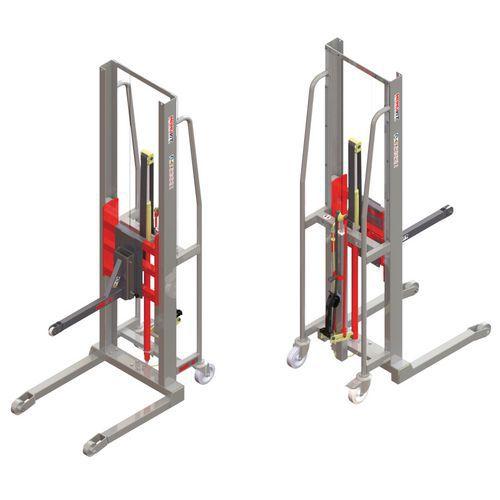 Apiladora GR manual con soporte con rodillo - Capacidad 200 kg